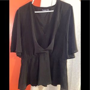 Black peplum shirt size: 16